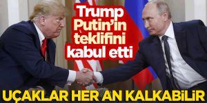 Putin'in korona virüs yardım teklifini Trump kabul etti