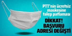 PTT'nin ücretsiz maskesine talep patlaması oldu! Başvurular e-Devlet'e kaydırıldı