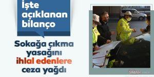 Erzurum'da sokağa çıkma yasağını ihlal eden 6 kişiye ceza