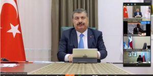 Bakan Koca, Türkiye'nin koronavirüs mücadelesini DSÖ'ye anlattı