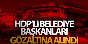 HDP'li belediye başkanları gözaltına alındı!