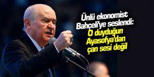 Ünlü ekonomist Bahçeli'ye seslendi: O duyduğun Ayasofya'dan çan sesi değil