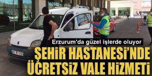 Erzurum Şehir Hastanesi'nde ücretsiz vale hizmeti...