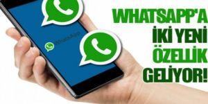 WhatsApp'tan iki yeni özellik daha