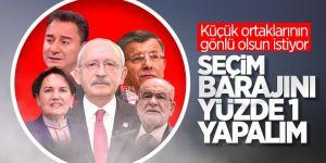 CHP seçim barajının düşürülmesini istiyor