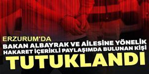 Bir tutuklamada Erzurum'da!