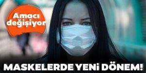 Koronavirüs maskelerinde yeni dönem!