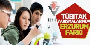 TÜBİTAK yarışmalarında Erzurum farki