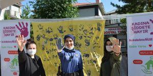 Aşkale'de 'Kadına Şiddete Hayır' etkinliği