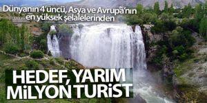 Tortum Şelalesi doğal güzellikleriyle Kurban Bayramı'nda ziyaretçilerini ağırlayacak