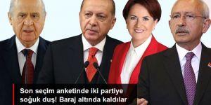 Son seçim anketinde büyük sürpriz! İYİ Parti ve HDP baraj altında kalıyor