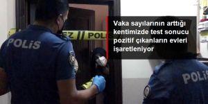 Bayburt'ta pozitif vakaların bulunduğu ikametler şerit çekilerek karantinaya alındı
