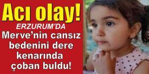 Erzurum'da Küçük kızın cansız bedenini çoban buldu