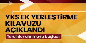 020-YKS Ek Yerleştirme Kılavuzu, ÖSYM'nin internet sitesinden açıklandı