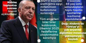 Erdoğan kritik toplantı sonrası ulusa seslendi!