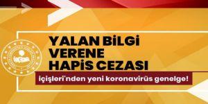 Temasları hakkında eksik/yalan beyanda bulunan Kovid-19 tanılı kişiler hakkında işlem yapılacak