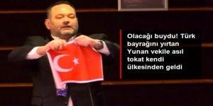 Avrupa Palamentosu'nda Türk Bayrağı'nı yırtan 'Altın Şafak' milletvekili Ioannis Lagos Yunanistan'da tutuklandı
