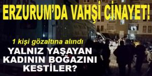 Erzurum'da 1 şüpheli gözaltında