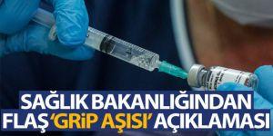 Sağlık Bakanlığından 'grip aşısı' açıklaması
