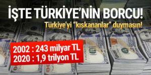 İşte Türkiye'nin toplam borcu!