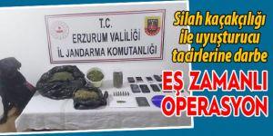 Erzurum'da eş zamanlı baskın