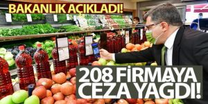 Fahiş fiyat artışı yapan 208 firmaya ceza kesildi!