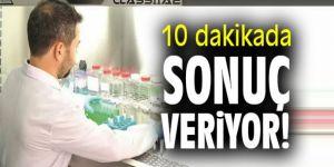 Erzurum'da üretildi: Bu test 10 dakikada sonuç veriyor