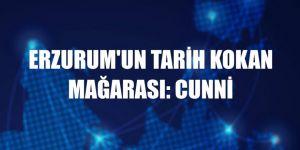 Erzurum'un tarih kokan mağarası: Cunni
