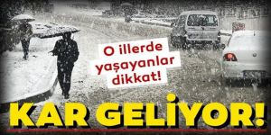 Doğu Anadolu'daki 5 ilde kar yağışı