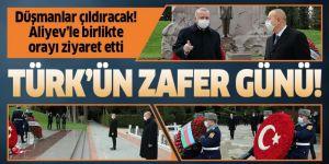 Erdoğan Haydar Aliyev'in kabrini ziyaret etti