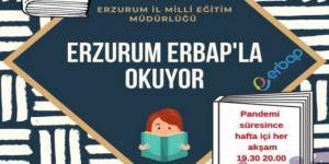 Erzurum'da başlatılan evde kitap okuma kampanyasına sosyal medyada büyük ilgi
