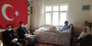 Şehit ailesinin evine kalorifer tesisatı yapıldı