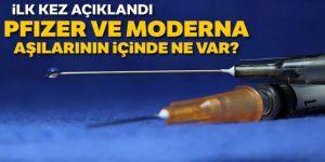 Moderna ve Pfizer/BioNTech aşılarının içeriğinde hangi maddeler yer alıyor?