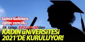 Erzurum Kadın Üniversitesine Talip