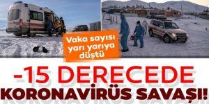 Erzurum'da -15 derecede sağlık ekiplerinin zorlu görevleri! Hayatlara dokunuyorlar.