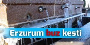 Erzurum'da dondurucu soğuklar etkisini sürdürüyor