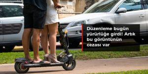 Elektrikli scooter'larla ilgili düzenleme Resmi Gazete'de yayımlandı!