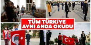Tüm Türkiye'de İstiklal Marşı okunuyor