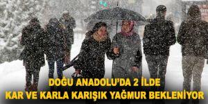 Doğu Anadolu'da 2 ilde kar ve karla karışık yağmur bekleniyor