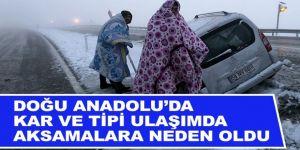 Erzurum, Ağrı ve Kars'ta kar yağışı etkili oldu