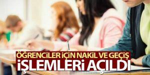 Eğitim kurumlarında nakil ve geçiş işlemleri açıldı