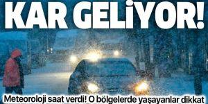Doğu Anadolu'daki 6 ilde kar bekleniyor