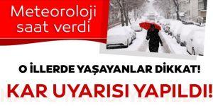 Erzurum, Kars, Ağrı, Ardahan ve Erzincan'da kar yağışı bekleniyor