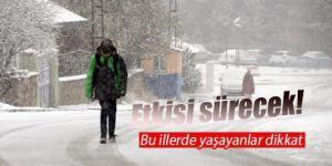 Doğu Anadolu'daki 5 ilde kar yağışı etkisini sürdürecek