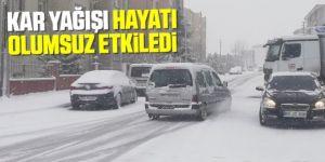 Kar yağışı Doğu Anadolu'da hayatı olumsuz etkiledi