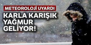Erzurum, Erzincan, Ağrı ile Iğdır'da karla karışık yağmur ve kar bekleniyor