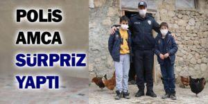 Erzurum Polisinden girişimci çocuklara tavuk desteği