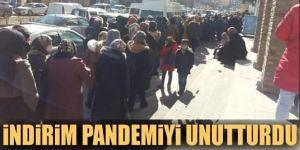 Erzurum'da İndirim pandemiyi unutturdu