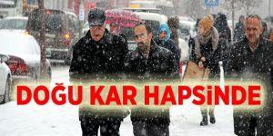 Erzurum, Kars ve Ardahan'da kar etkili oldu