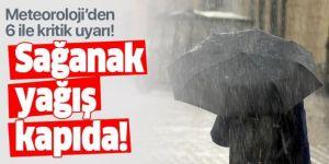 Doğu Anadolu Bölgesi'nde 6 il için kuvvetli yağış uyarısı
